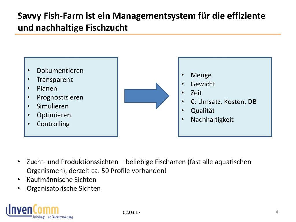 Savvy Fish-Farm ist ein Managementsystem für die effiziente und nachhaltige Fischzucht