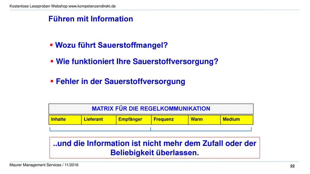 Führen mit Information
