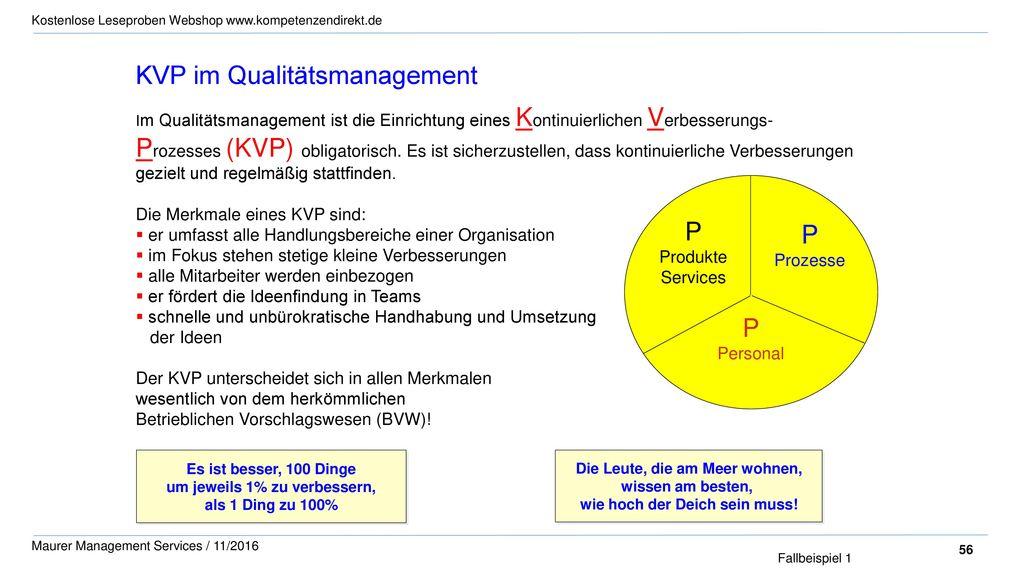 KVP im Qualitätsmanagement