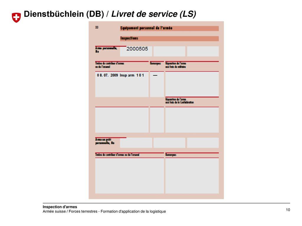 Dienstbüchlein (DB) / Livret de service (LS)