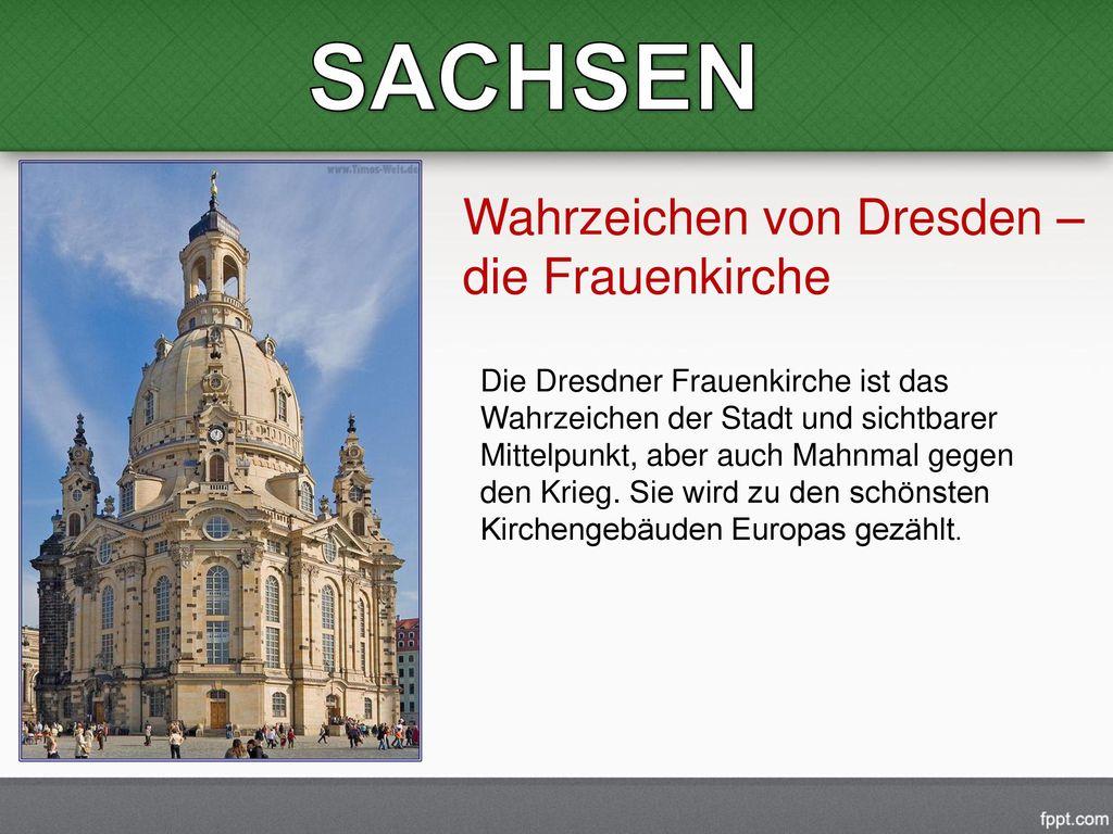 SACHSEN Wahrzeichen von Dresden – die Frauenkirche