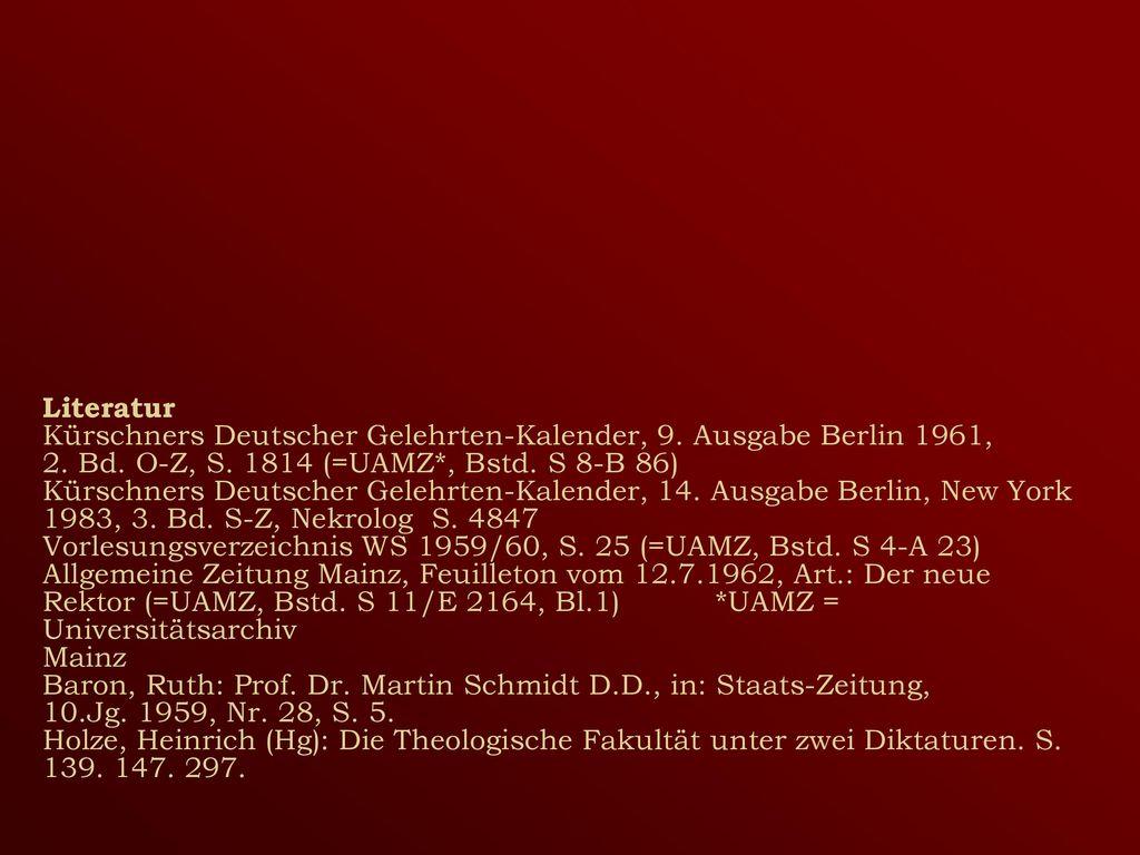 Literatur Kürschners Deutscher Gelehrten-Kalender, 9