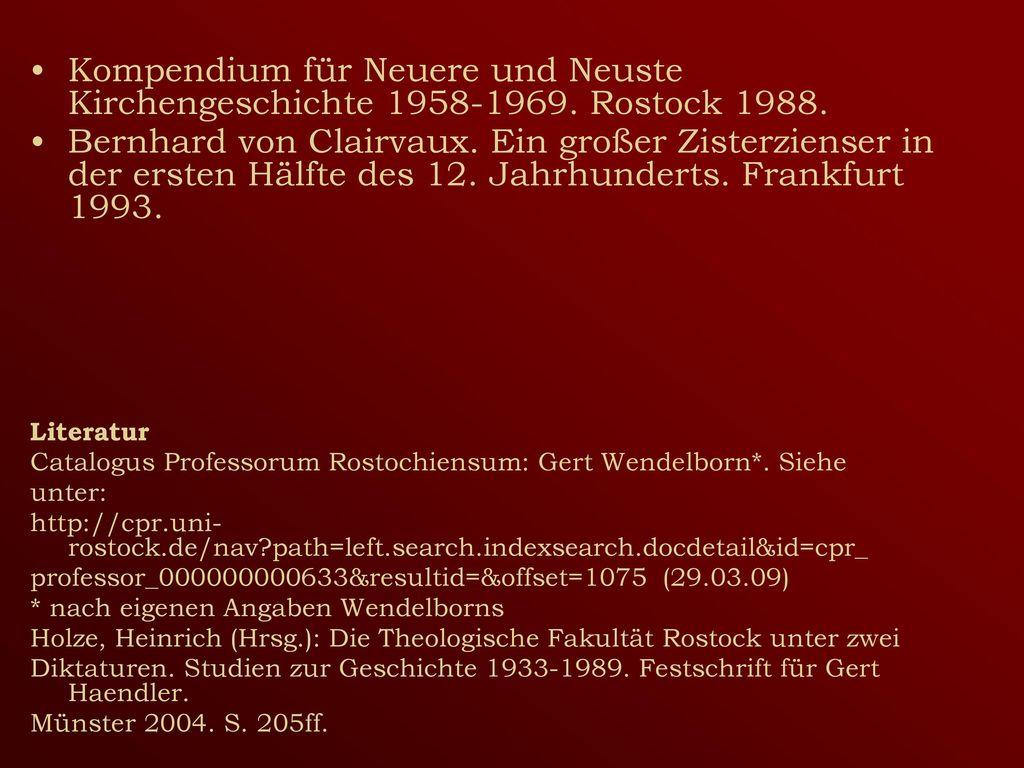 Kompendium für Neuere und Neuste Kirchengeschichte 1958-1969