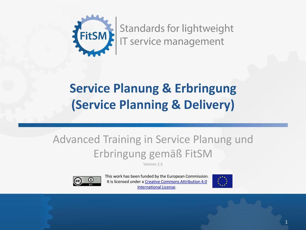 Service Planung & Erbringung (Service Planning & Delivery)