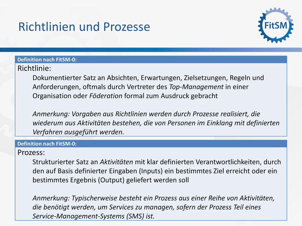 Richtlinien und Prozesse