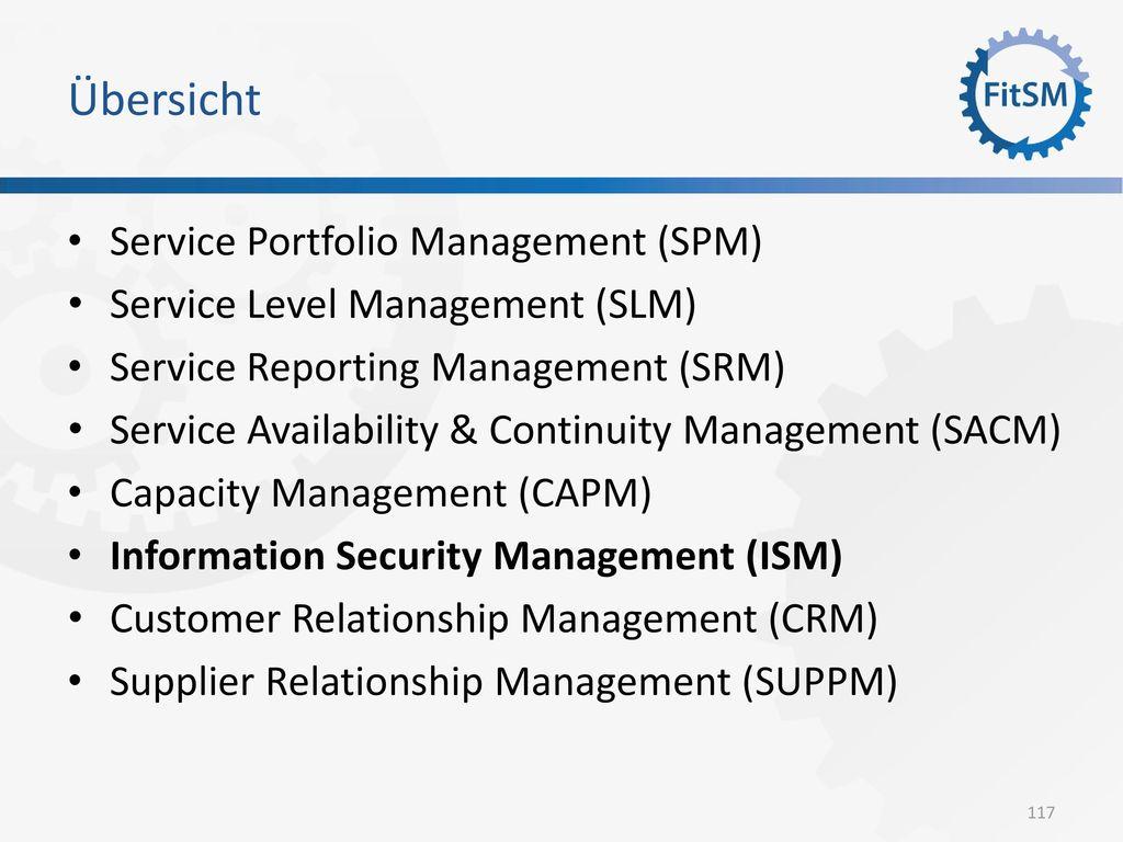 Übersicht Service Portfolio Management (SPM)