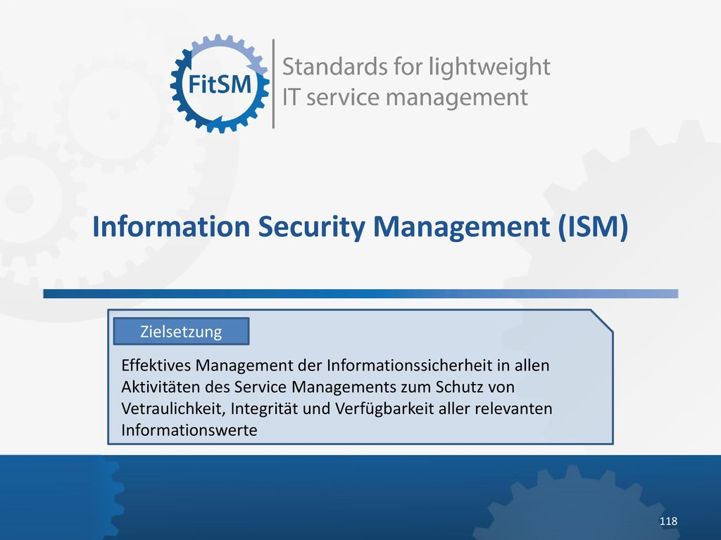 Information Security Management (ISM)