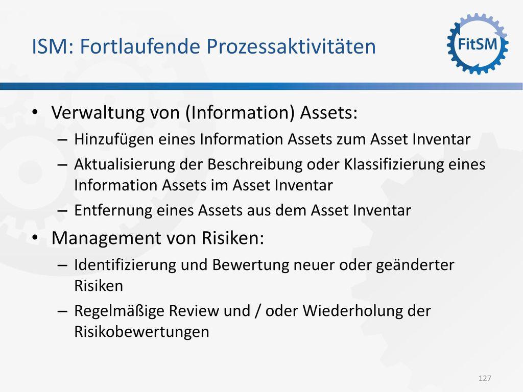 ISM: Fortlaufende Prozessaktivitäten