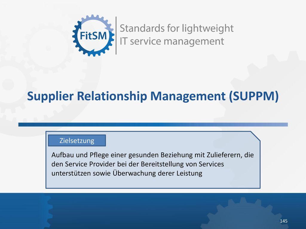 Supplier Relationship Management (SUPPM)