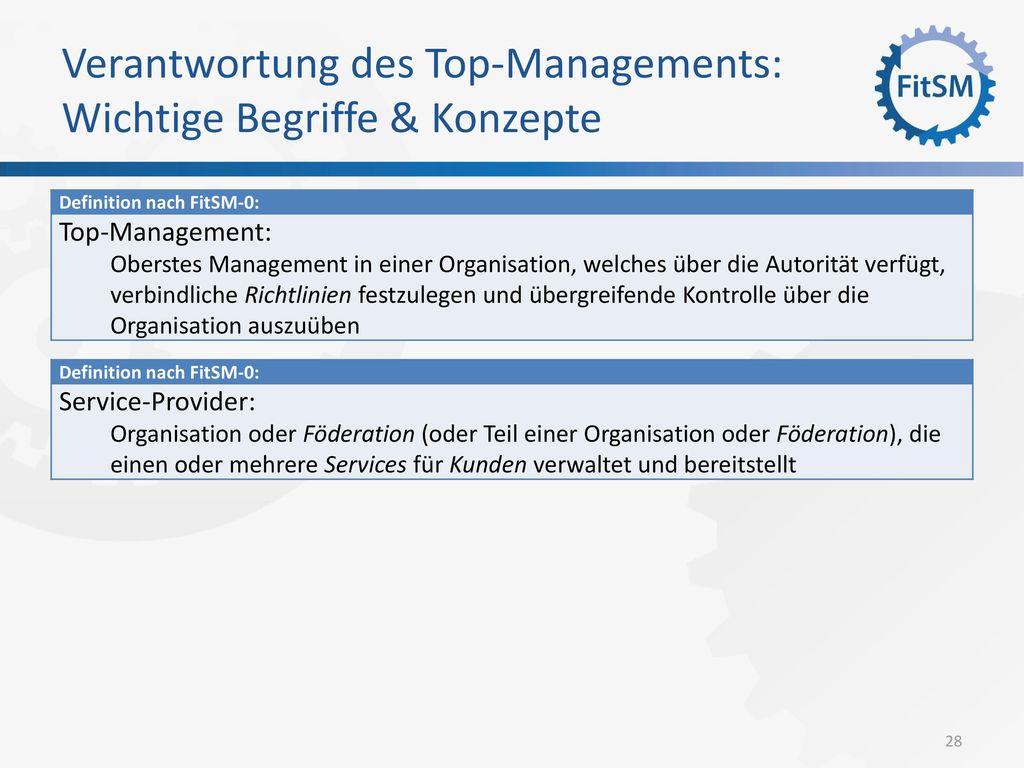 Verantwortung des Top-Managements: Wichtige Begriffe & Konzepte