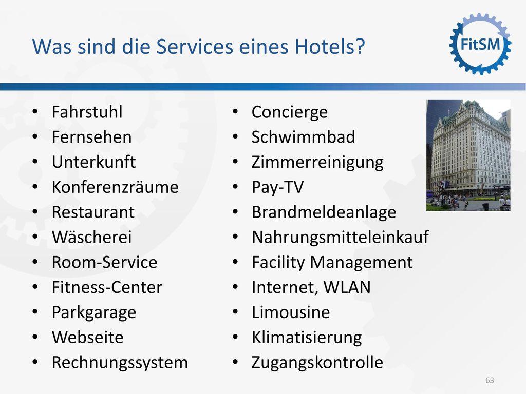 Was sind die Services eines Hotels