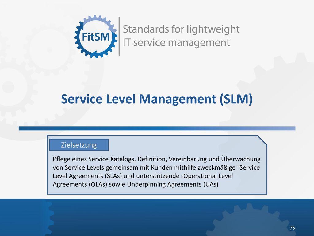 Service Level Management (SLM)