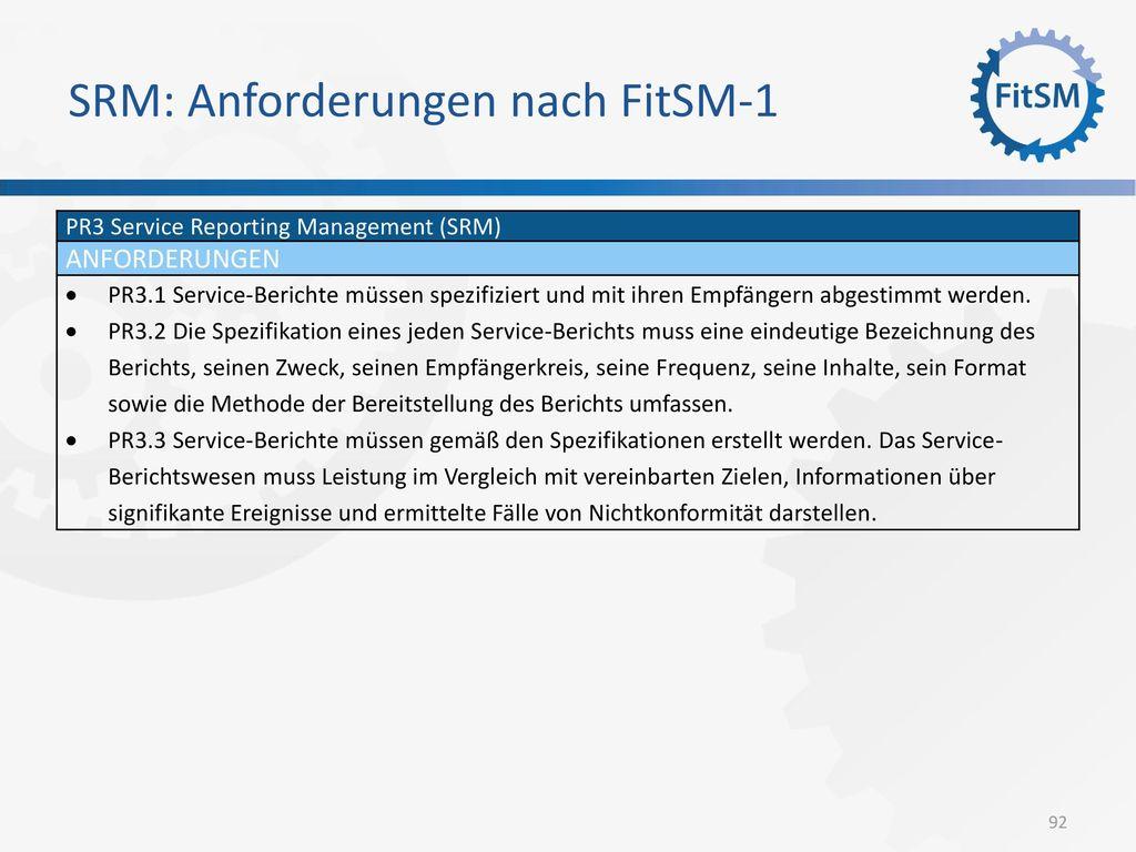 SRM: Anforderungen nach FitSM-1