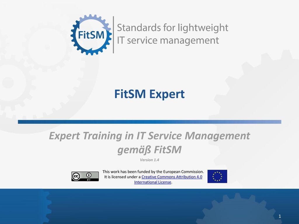Expert Training in IT Service Management gemäß FitSM Version 1.4