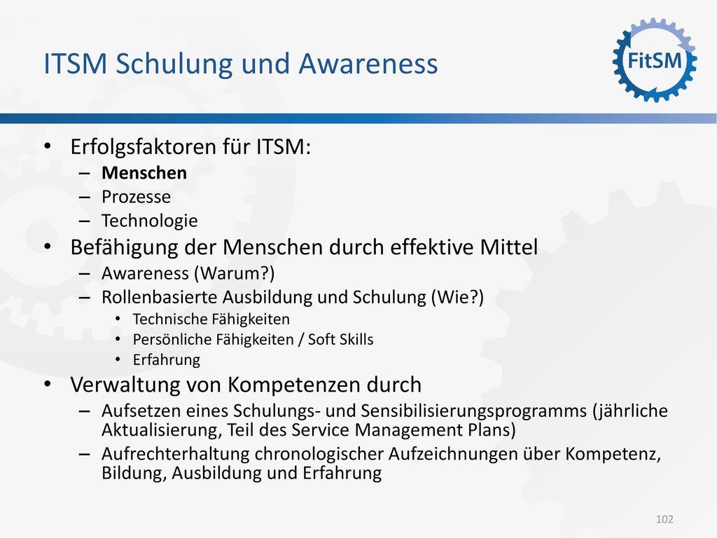 ITSM Schulung und Awareness