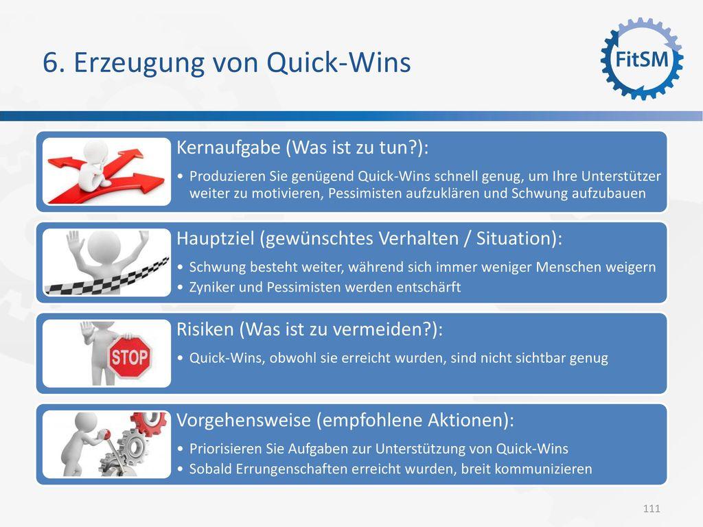 6. Erzeugung von Quick-Wins