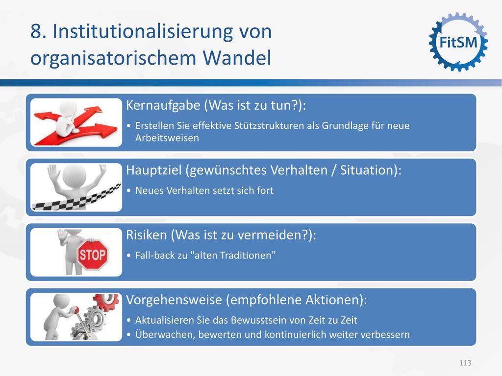 8. Institutionalisierung von organisatorischem Wandel