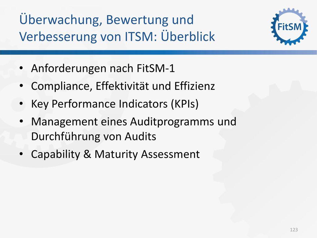 Überwachung, Bewertung und Verbesserung von ITSM: Überblick