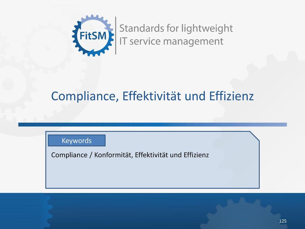 Compliance, Effektivität und Effizienz
