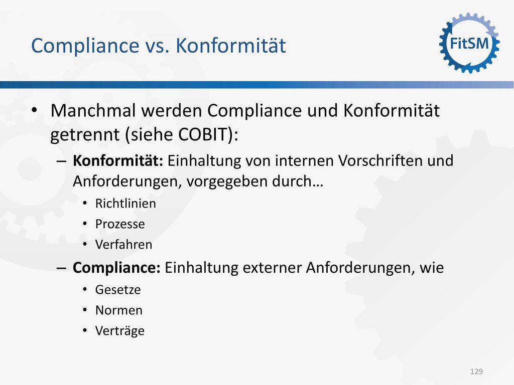 Compliance vs. Konformität