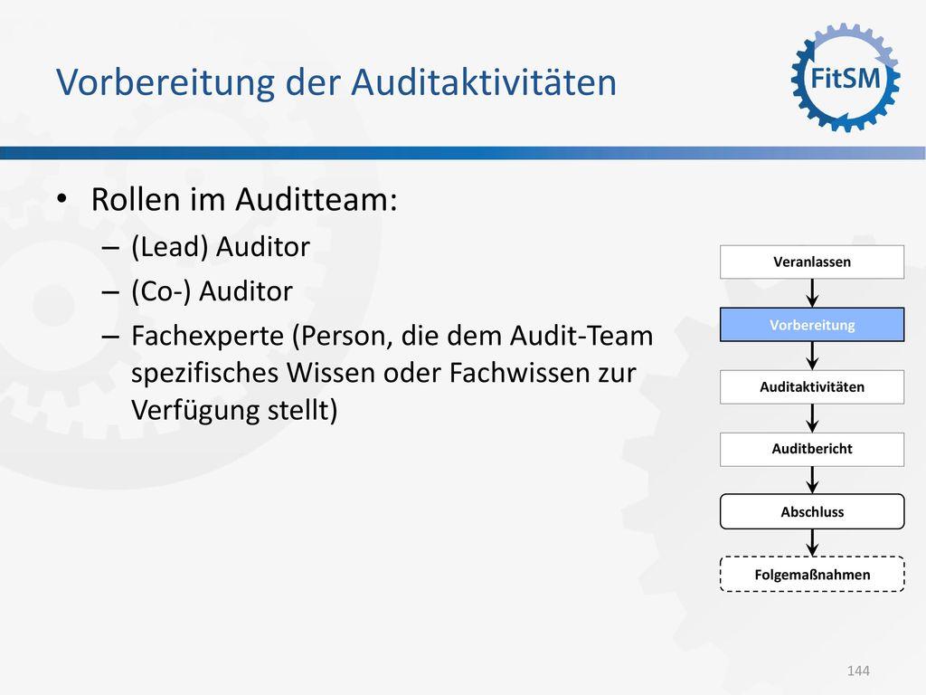 Vorbereitung der Auditaktivitäten