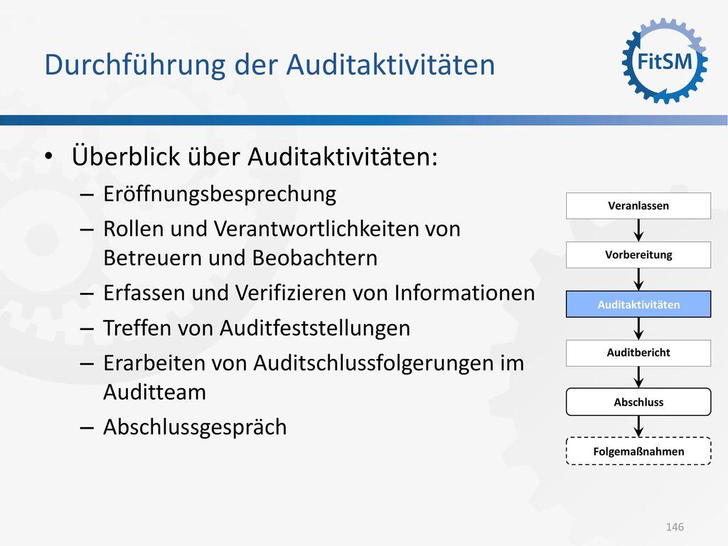 Durchführung der Auditaktivitäten
