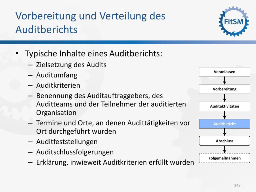 Vorbereitung und Verteilung des Auditberichts