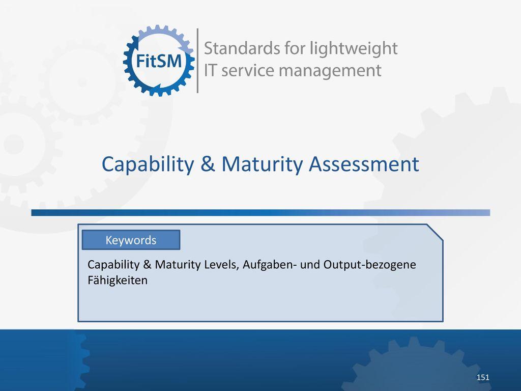 Capability & Maturity Assessment
