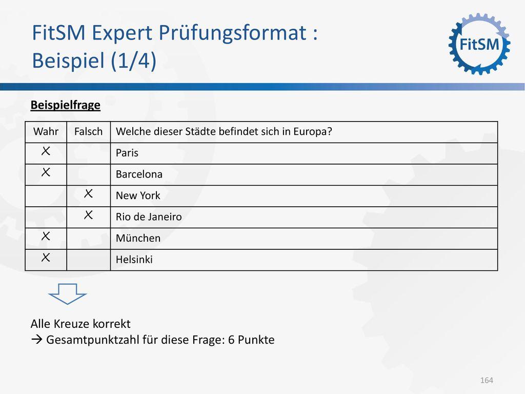 FitSM Expert Prüfungsformat : Beispiel (1/4)