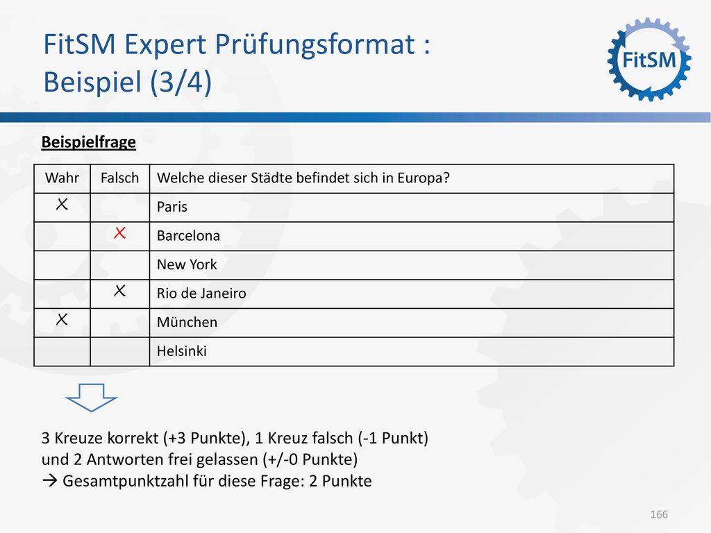FitSM Expert Prüfungsformat : Beispiel (3/4)