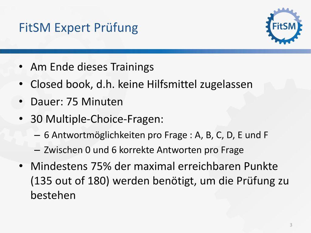 FitSM Expert Prüfung Am Ende dieses Trainings