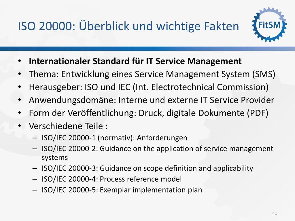 ISO 20000: Überblick und wichtige Fakten