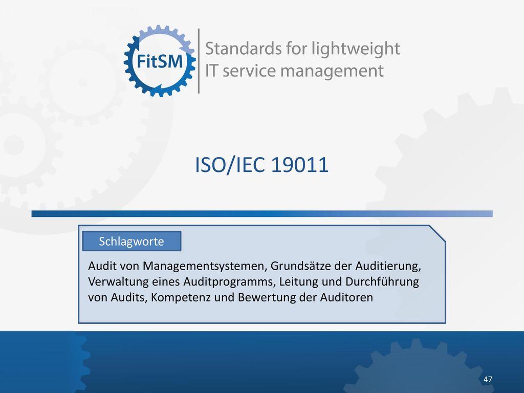 ISO/IEC 19011 Schlagworte.