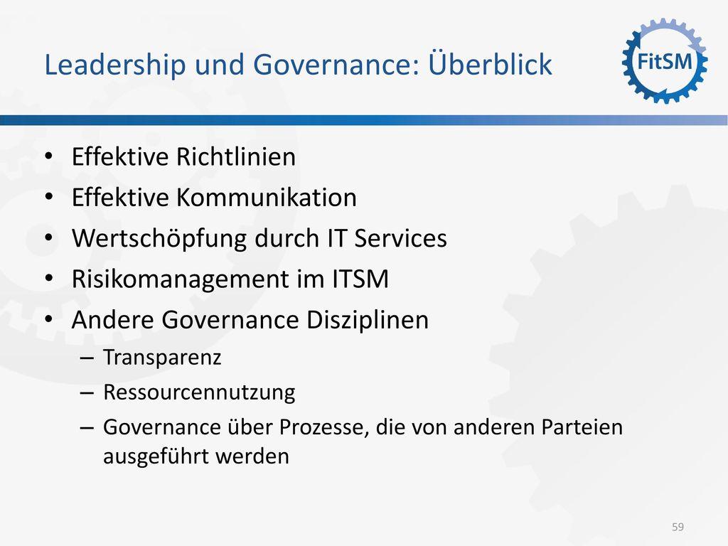 Leadership und Governance: Überblick