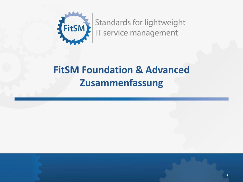 FitSM Foundation & Advanced Zusammenfassung