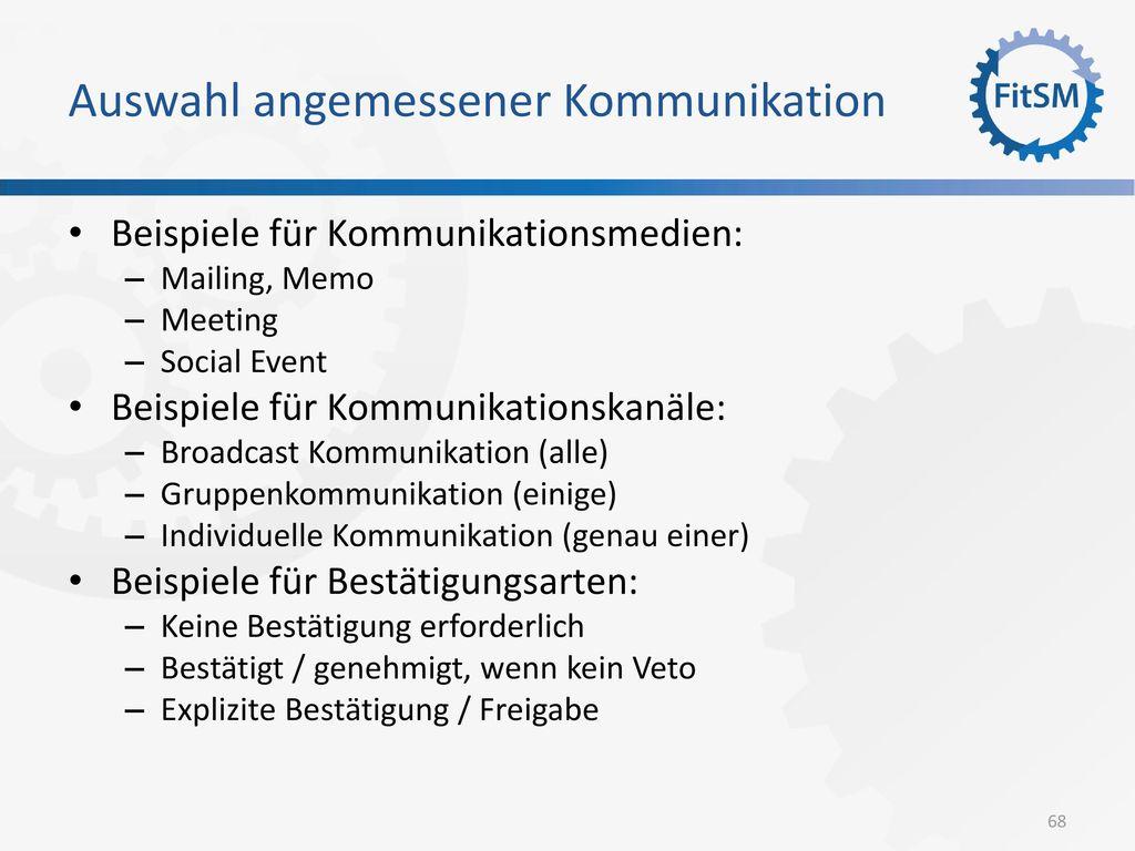 Auswahl angemessener Kommunikation