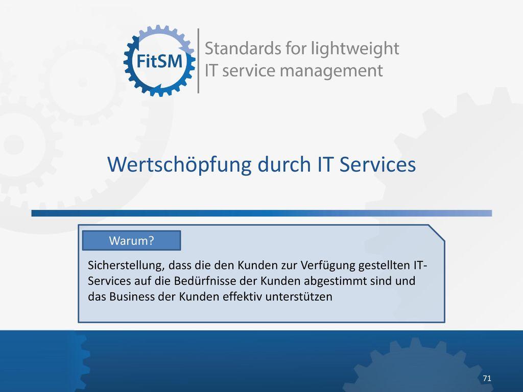Wertschöpfung durch IT Services