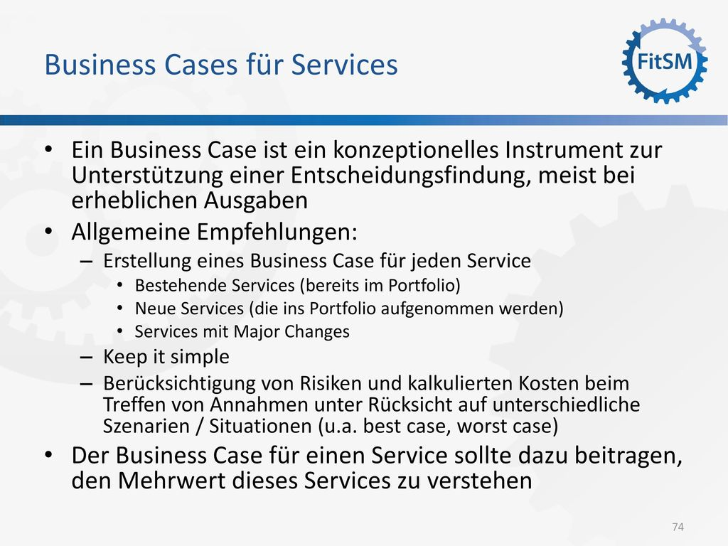 Business Cases für Services