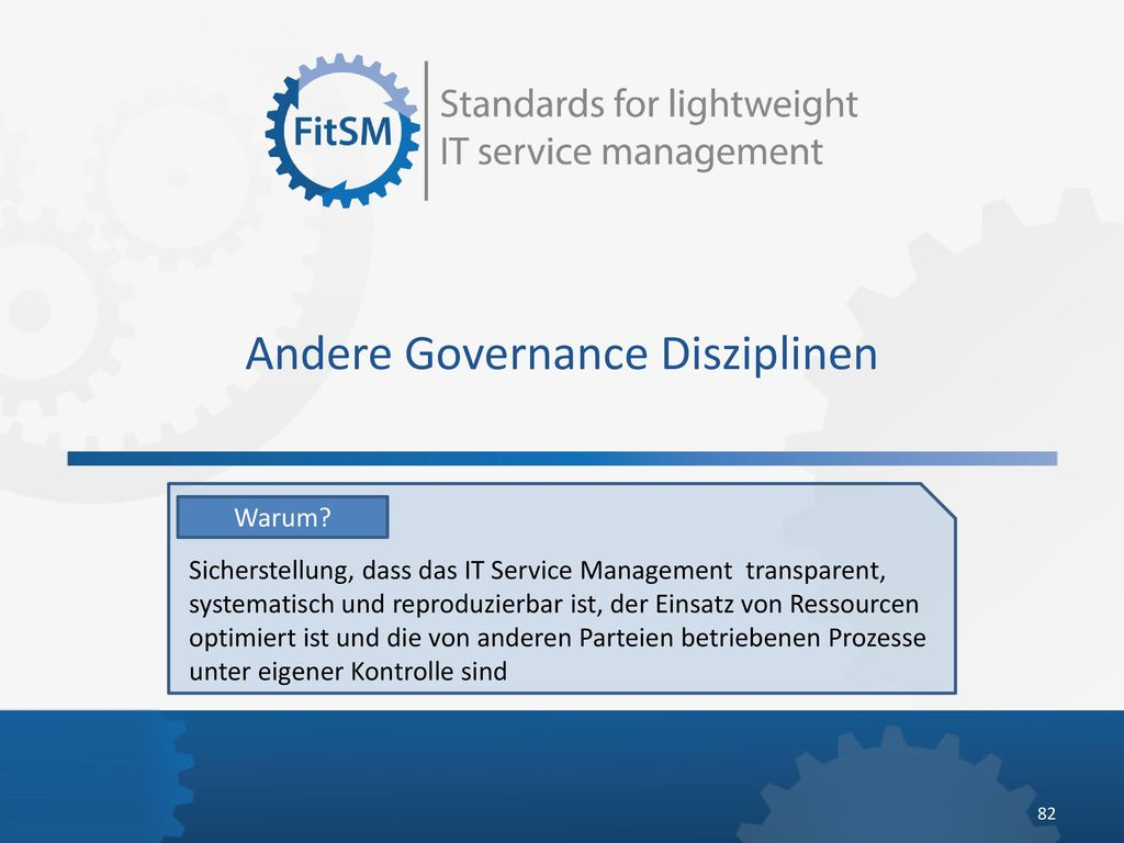 Andere Governance Disziplinen