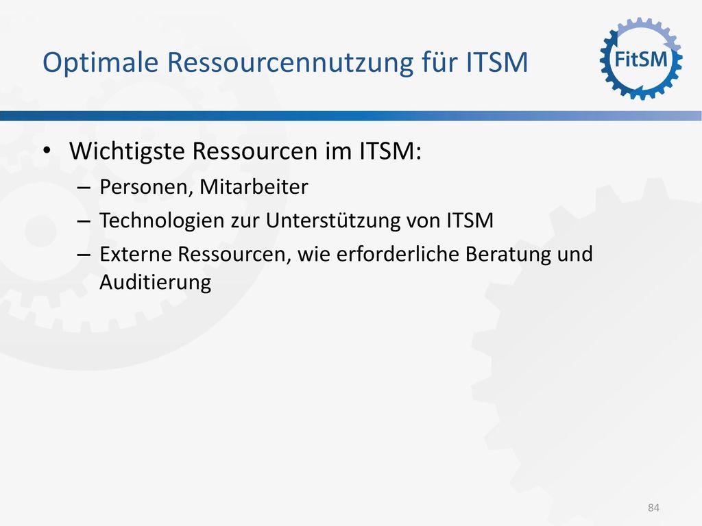 Optimale Ressourcennutzung für ITSM