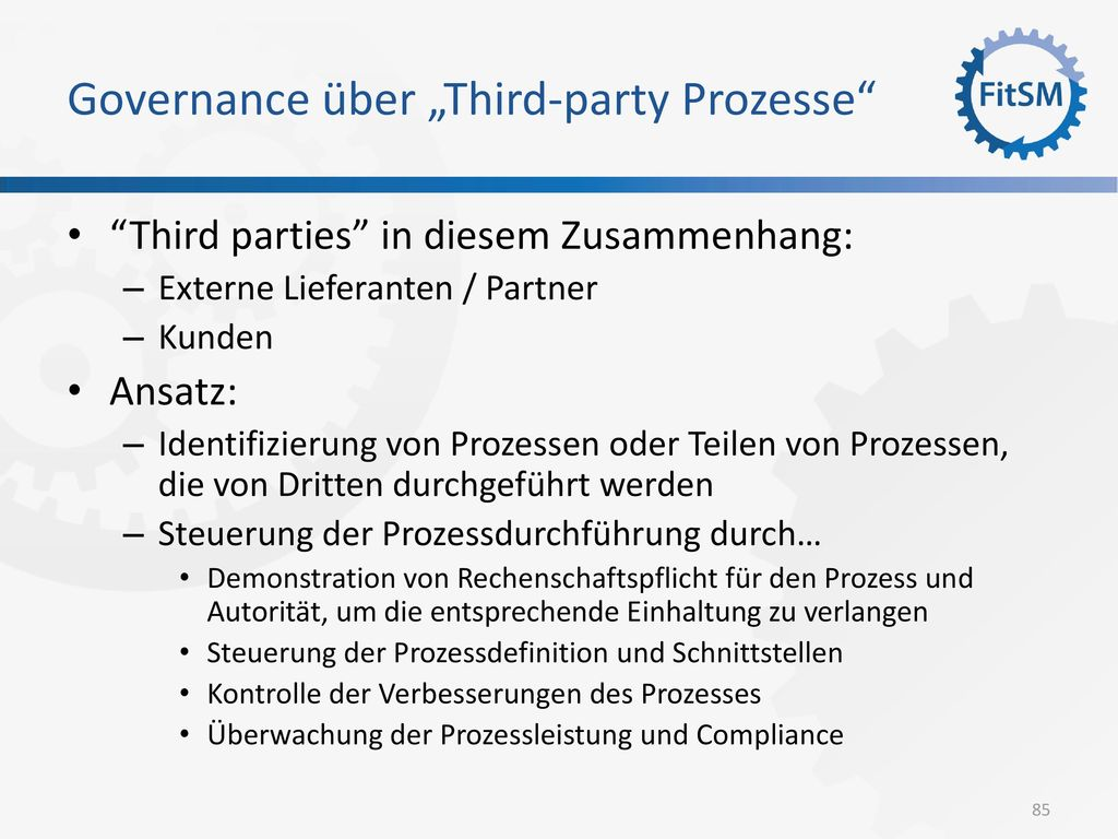 "Governance über ""Third-party Prozesse"
