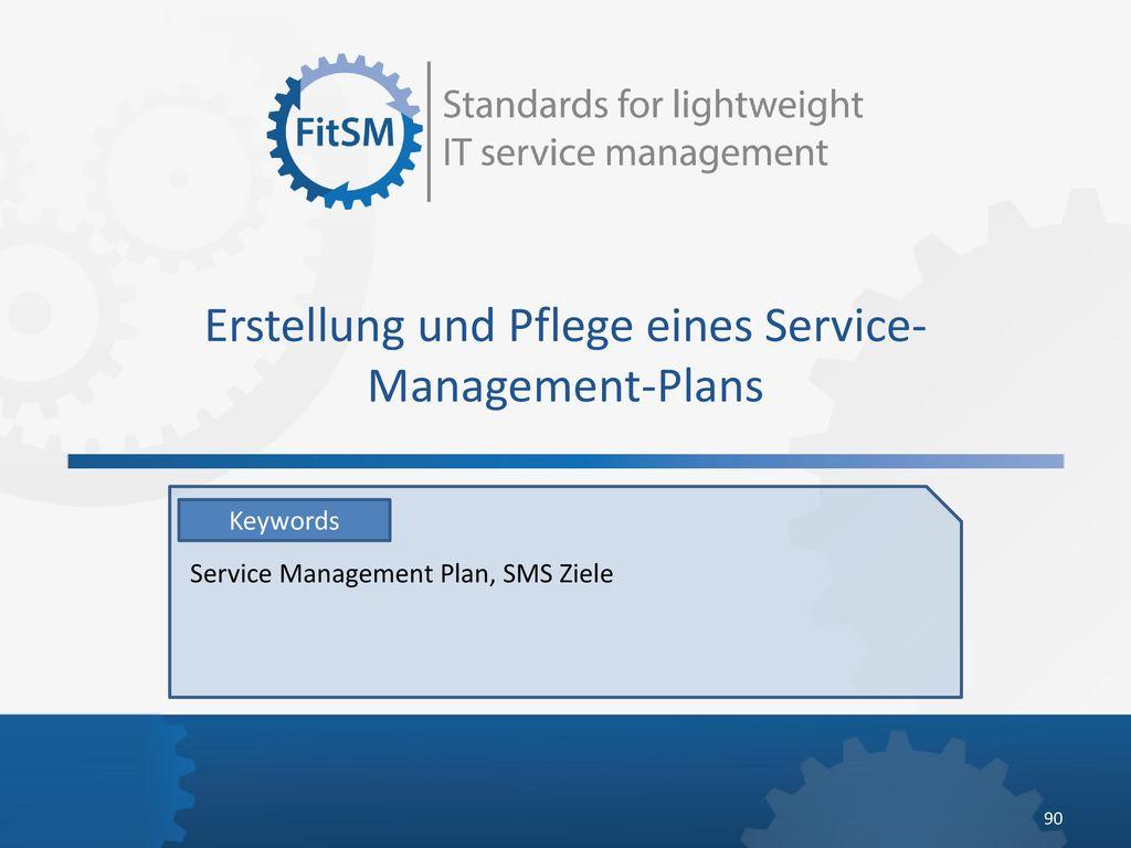 Erstellung und Pflege eines Service-Management-Plans