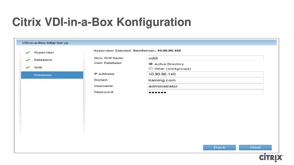 Citrix VDI-in-a-Box Konfiguration