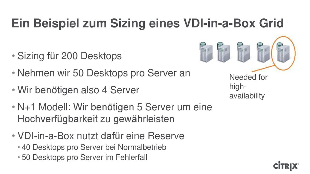 VDI-in-a-Box Sizing