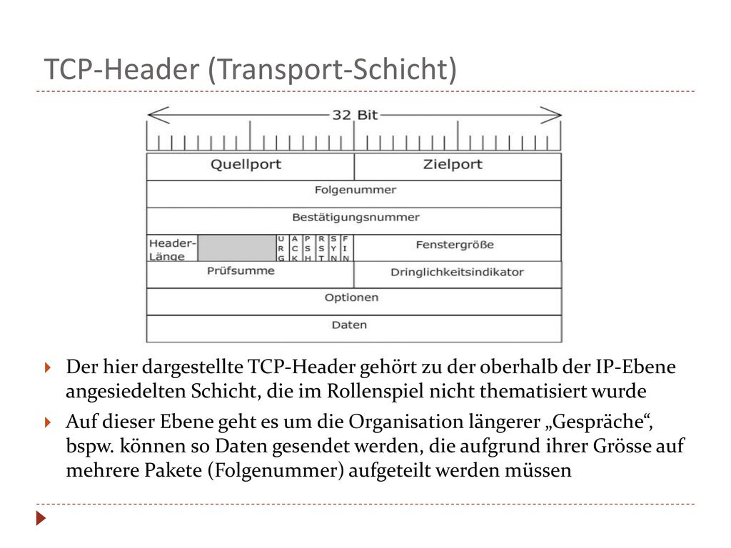 TCP-Header (Transport-Schicht)