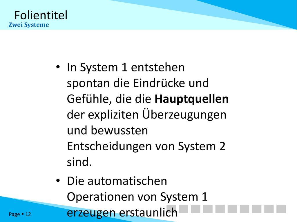 Zwei Systeme