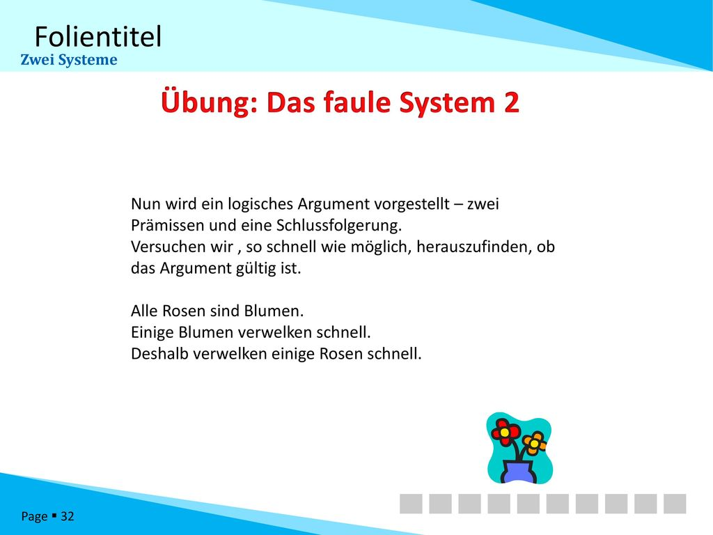 Übung: Das faule System 2