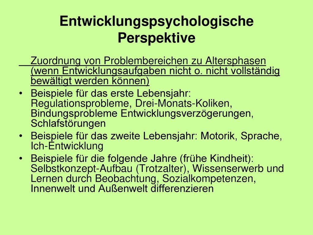 Entwicklungspsychologische Perspektive