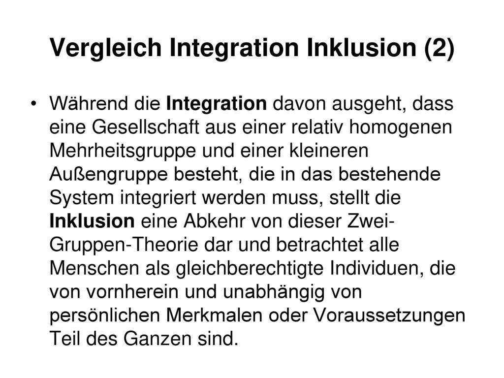Vergleich Integration Inklusion (2)