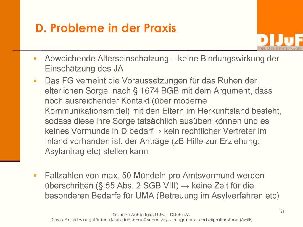 D. Probleme in der Praxis